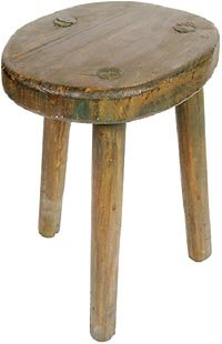 Photo of stool intended for children during time-out - a love withdrawal instrument..