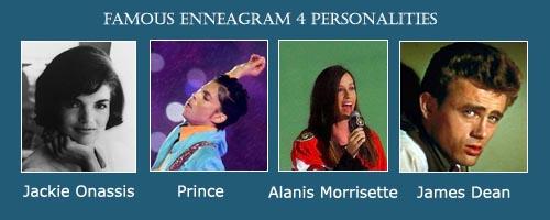 The Individualist - Enneagram 4 - Jackie Onassis - Alanis Morrisette - Prince - James Dean