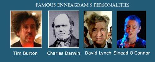 The Investigator - Enneagram 5 - Tim Burton - David Lynch - Charles Darwin - Sinead O'Connor