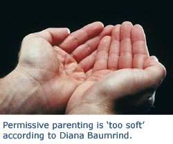 Picture of cupped hands representing the permissive parenting style