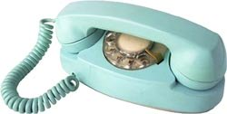 Direct hotline to your Wiser Self. Picture of an old fashioned blue telephone.