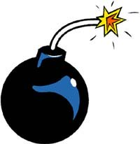 Drawing of a bomb.