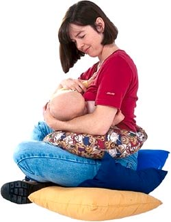 Picture of baby breastfeeding