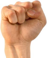 Photo of a clenched fist.