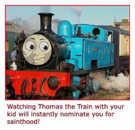 Picture of Thomas the Train.