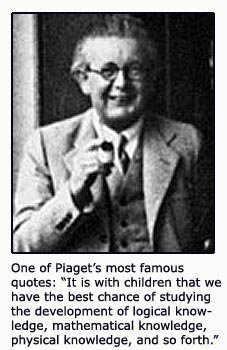 Jean Piaget quote on child development.