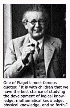 Jean Piaget quote on child development.