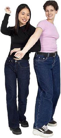Two girlfriends having fun.