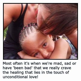 Beautiful picture of mom comforting little girl who has a small tear in her eye!